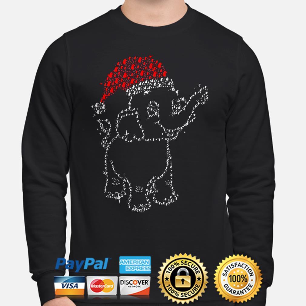 Santa Claus elephant diamonds Christmas sweater