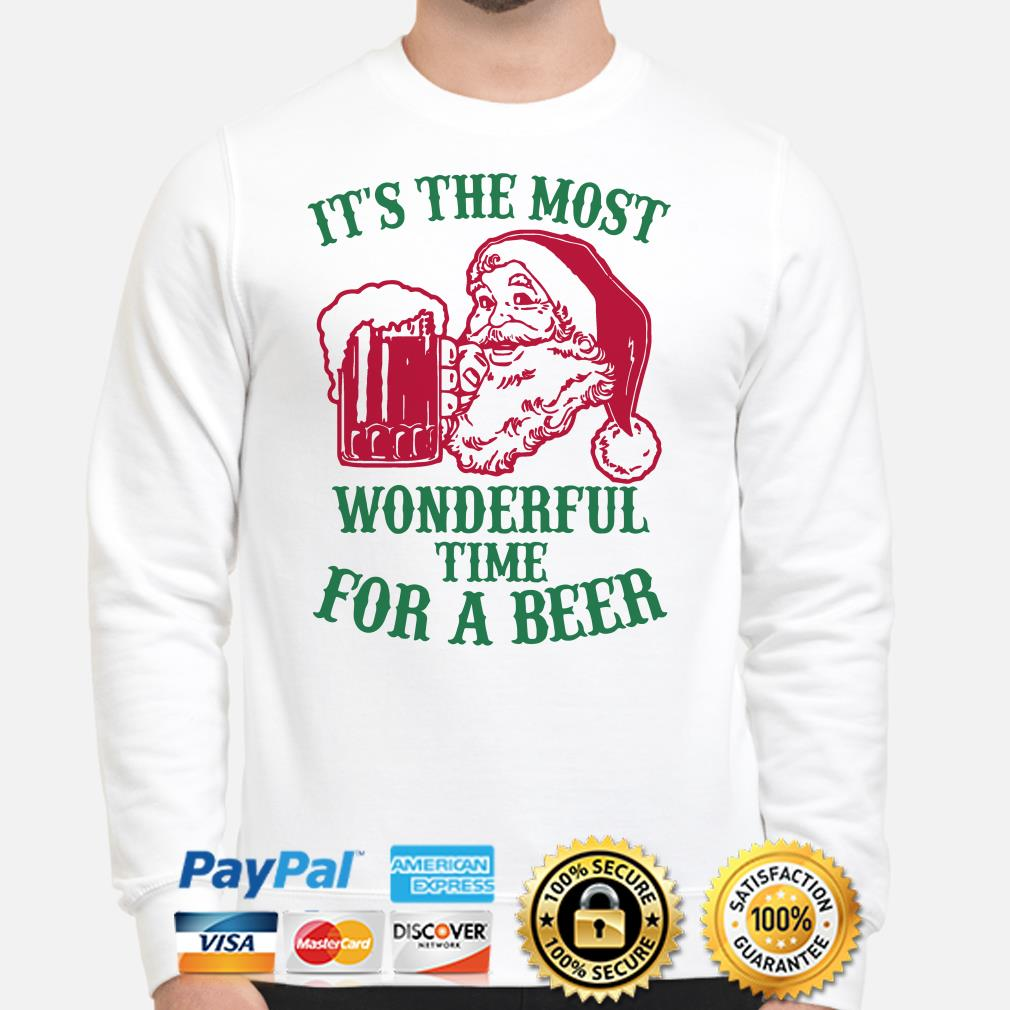 Santa Claus it's the most wonderful time for a beer Christmas sweater