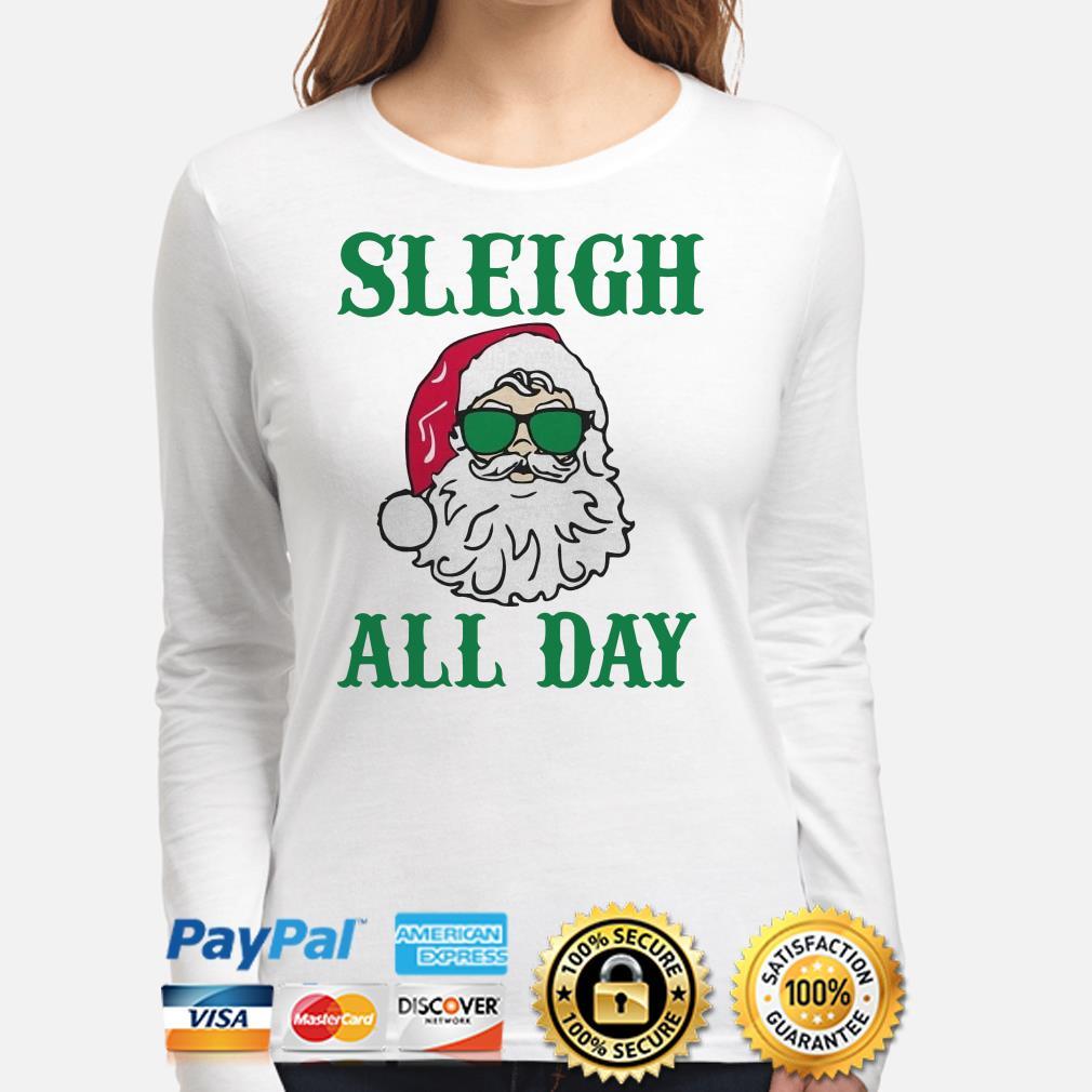 Santa Claus Sleigh all day Christmas long sleeve