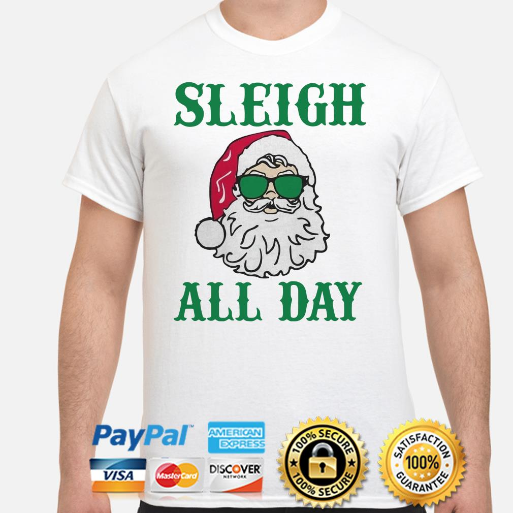 Santa Claus Sleigh all day Christmas T-shirt