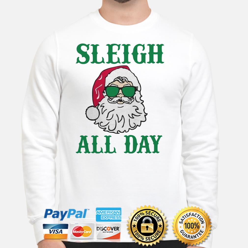 Santa Claus Sleigh all day Christmas sweater
