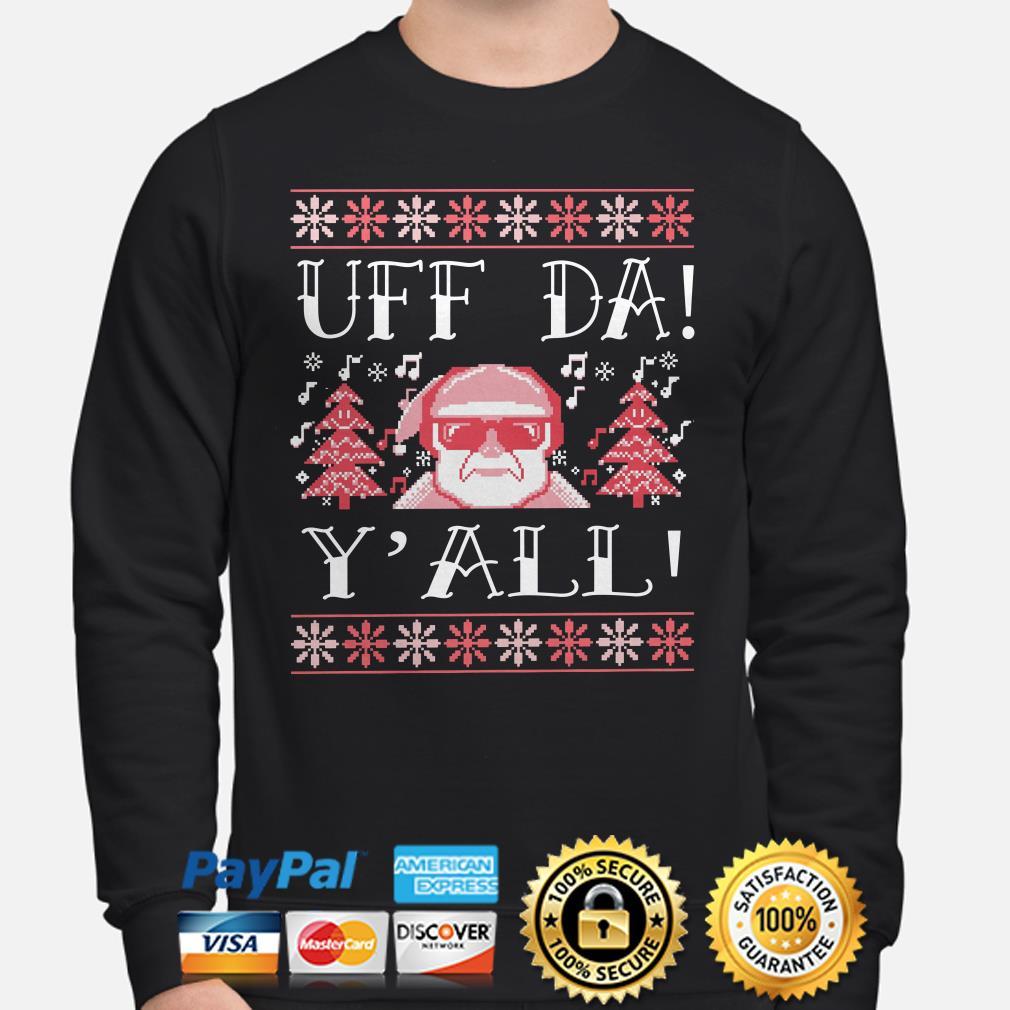 Santa Claus uff da y'all ugly Christmas sweater