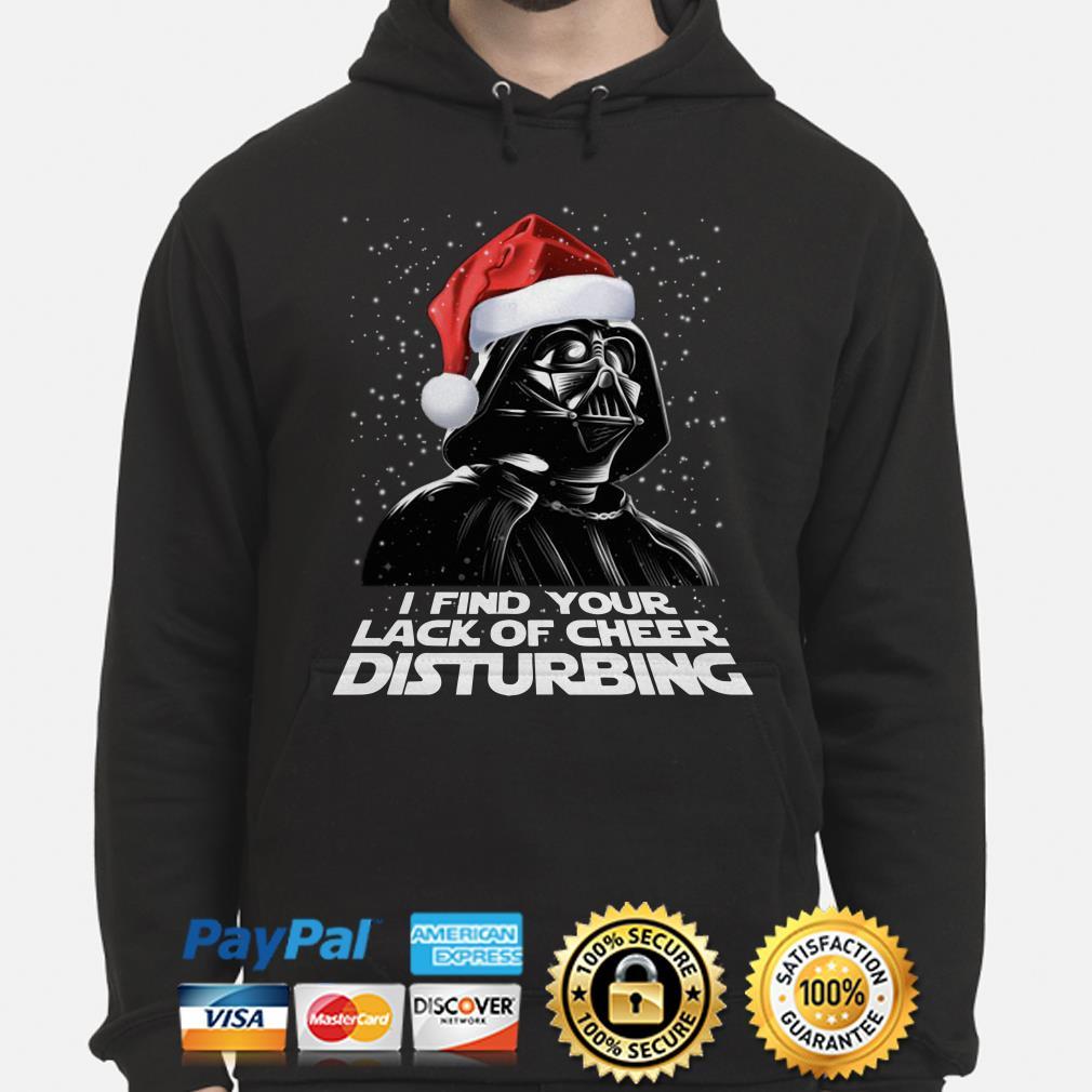 Santa Darth Vader I find your lack of cheer disturbing Christmas hoodie