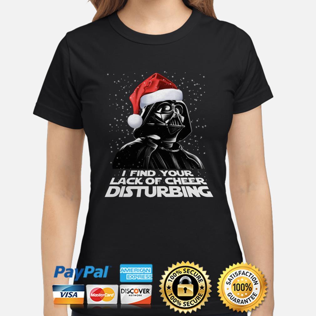 Santa Darth Vader I find your lack of cheer disturbing Christmas ladies shirt