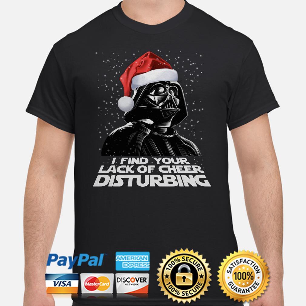 Santa Darth Vader I find your lack of cheer disturbing Christmas shirt