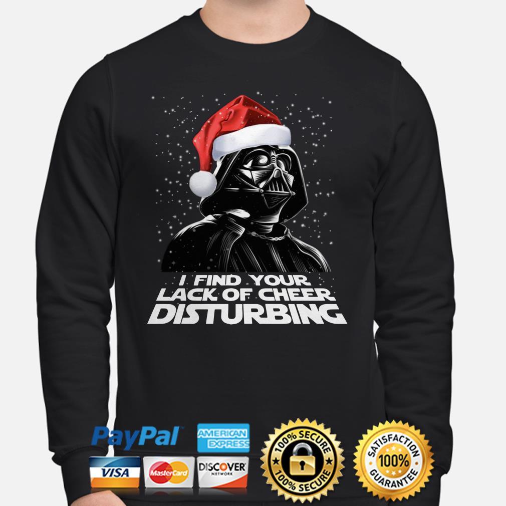 Santa Darth Vader I find your lack of cheer disturbing Christmas sweater