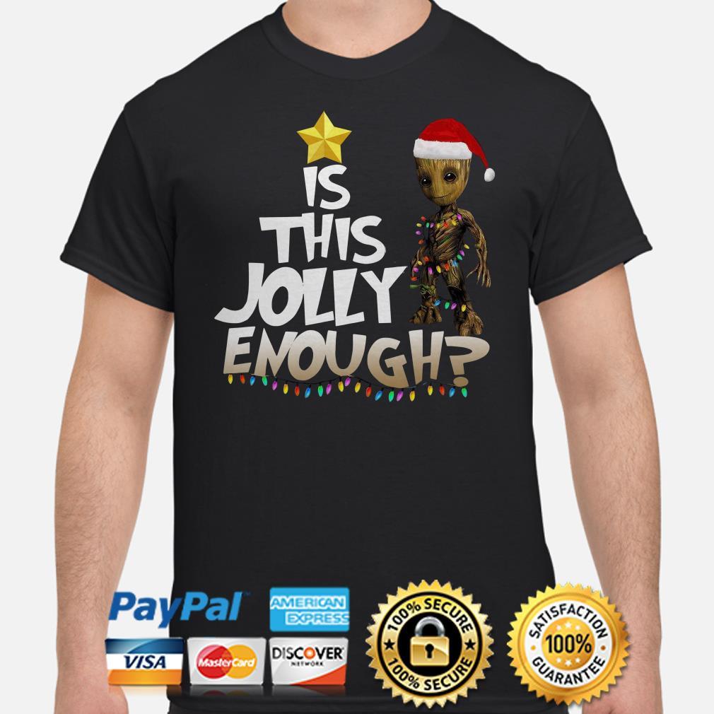 Santa Groot is this jolly enough Christmas shirt