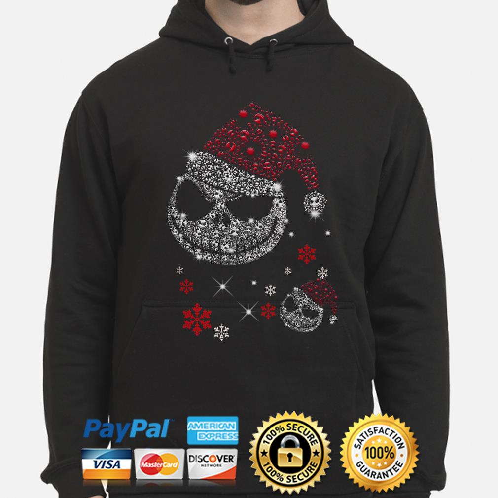 Santa Jack Skellington face Diamonds Christmas hoodie