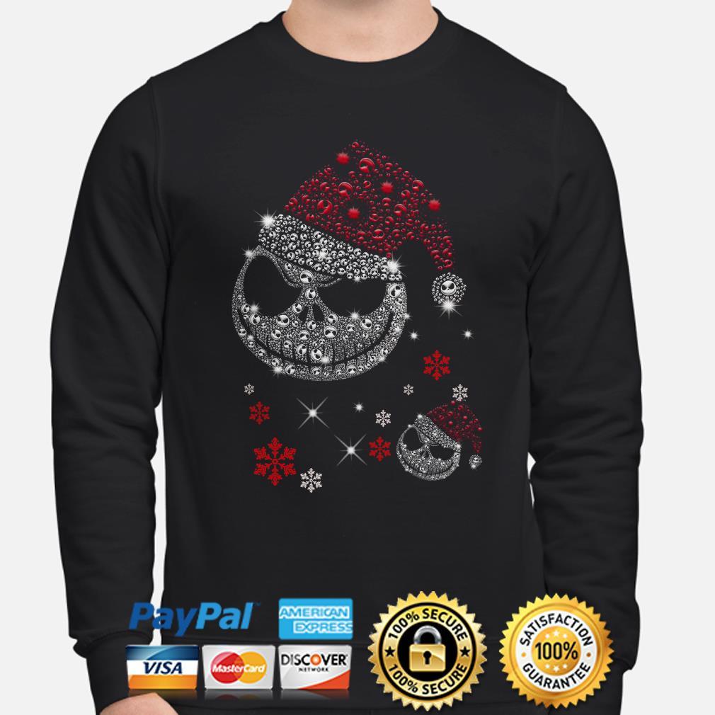 Santa Jack Skellington face Diamonds Christmas sweater