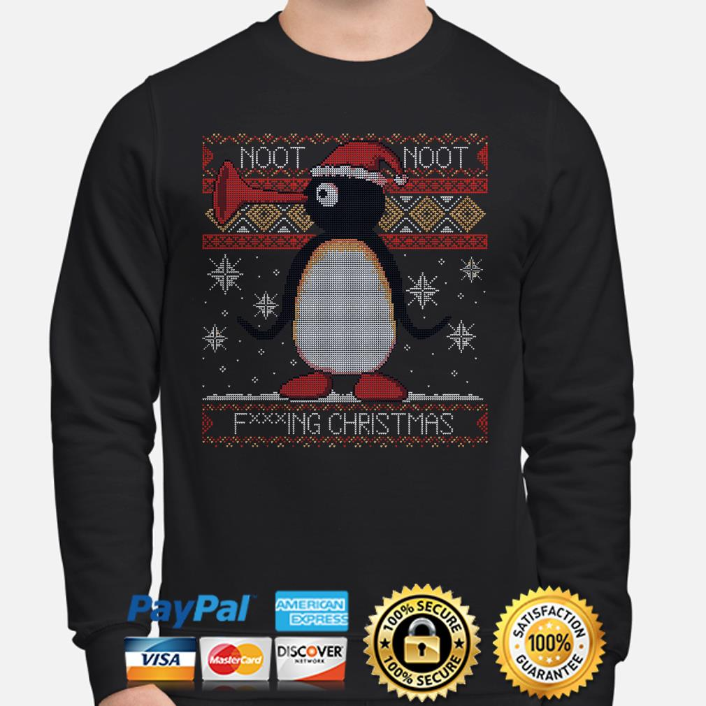 Santa Penguin noot noot fucking Christmas ugly sweater