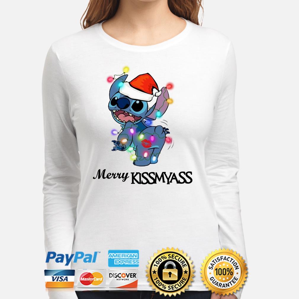 Santa Stitch Merry Kissmyass Christmas long sleeve