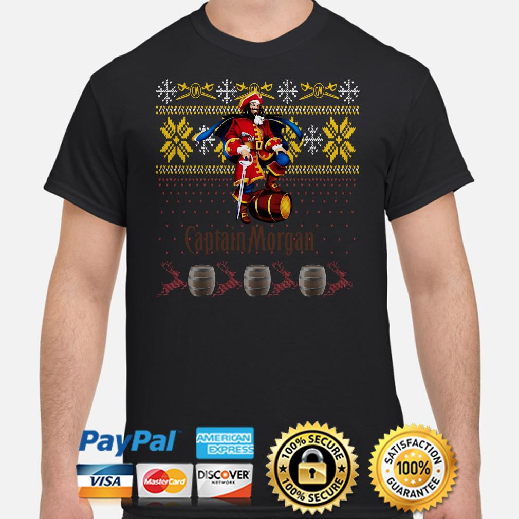 Captain Morgan ugly Christmas shirt