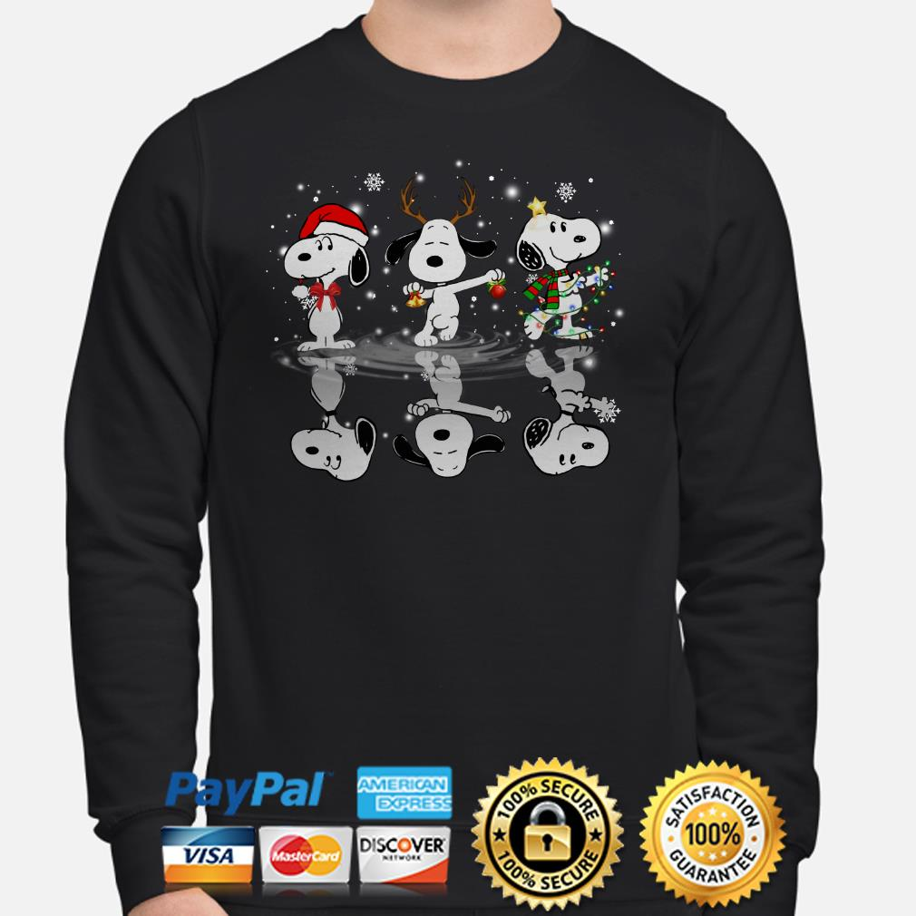 Snoopy water mirror Christmas sweater