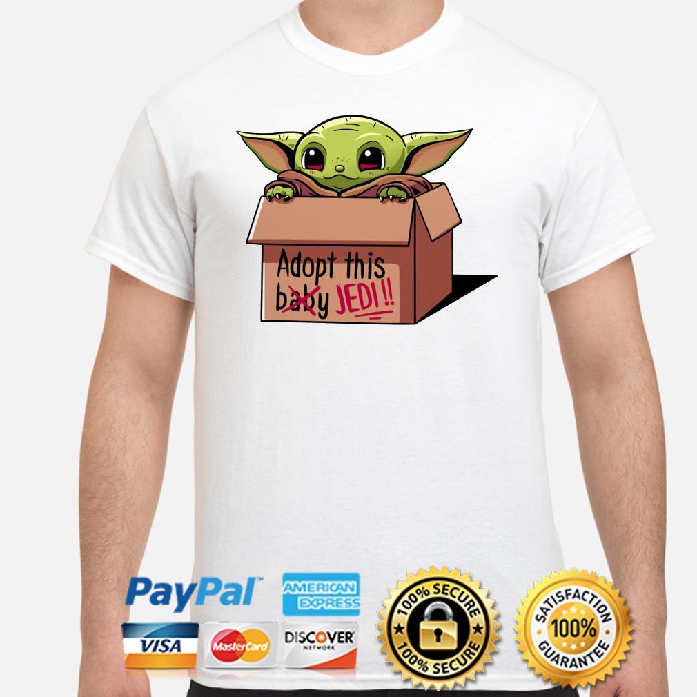 Star War baby Yoda Adopt this Jedi shirt