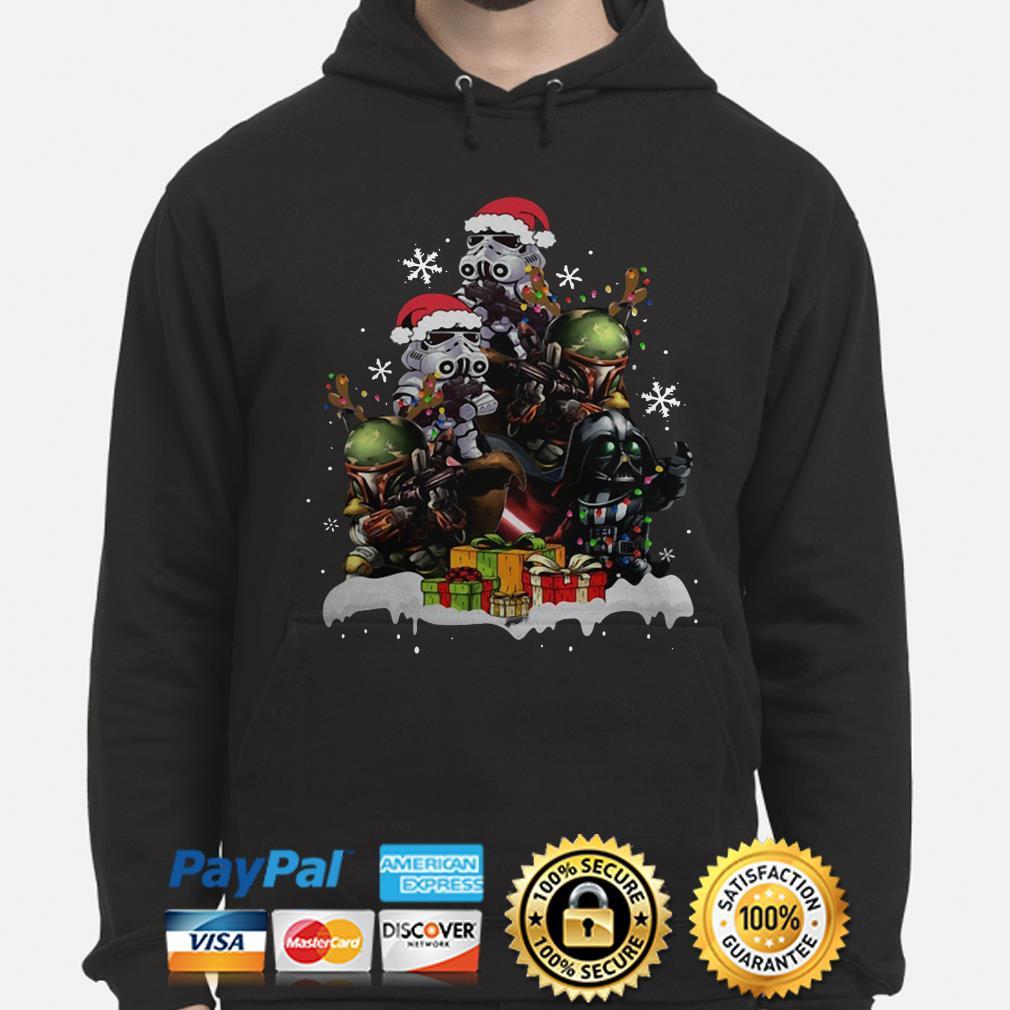 Star Wars Boba Fett Darth Vader Stormtrooper Christmas Tree hoodie