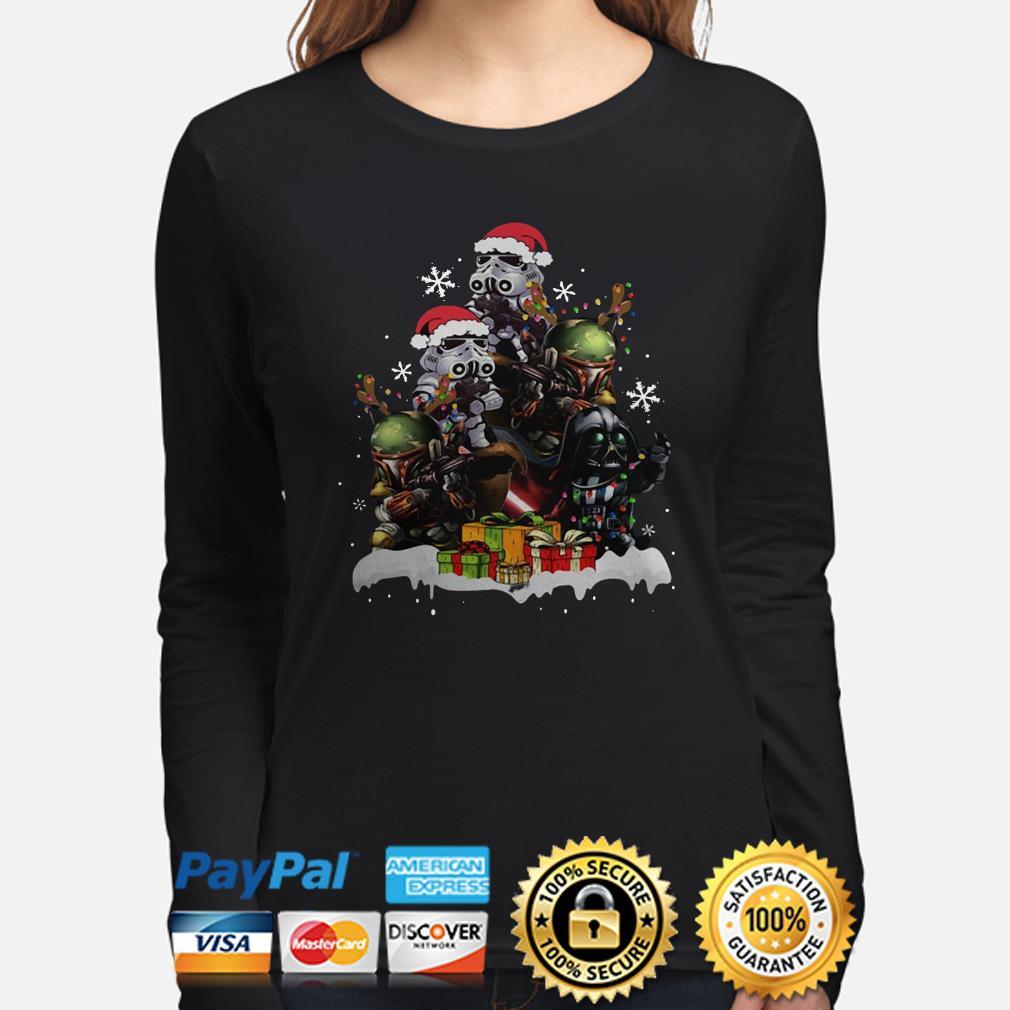 Star Wars Boba Fett Darth Vader Stormtrooper Christmas Tree long sleeve
