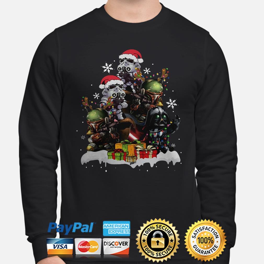Star Wars Boba Fett Darth Vader Stormtrooper Christmas Tree sweater