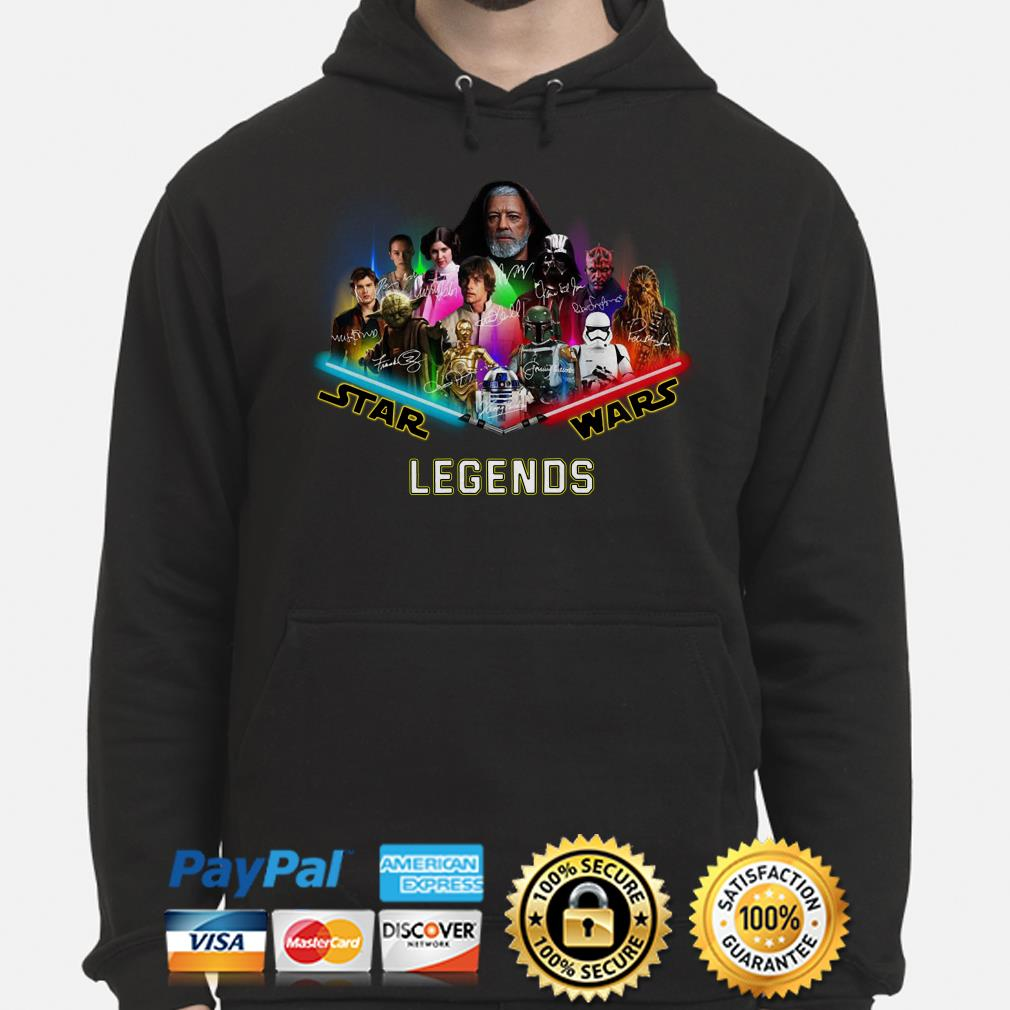 Star Wars characters Legends signature Hoodie