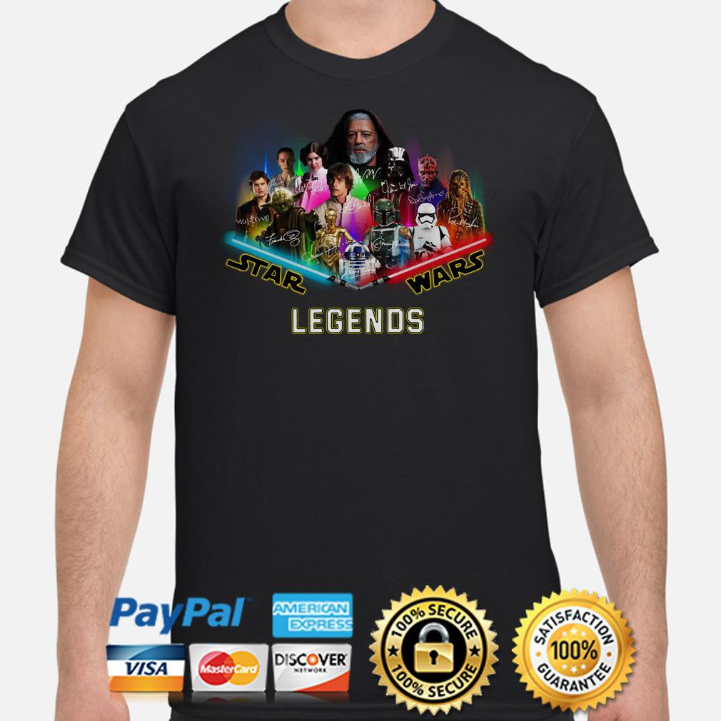Star Wars characters Legends signature shirt