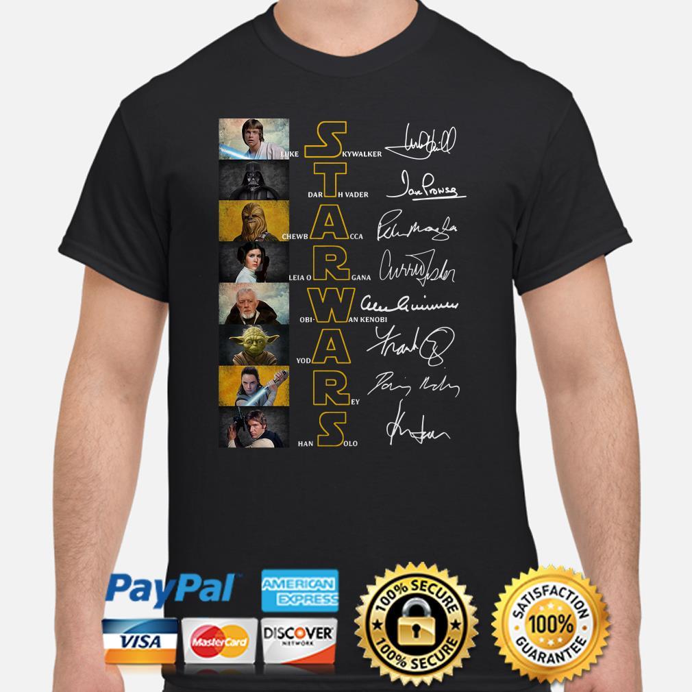 Star Wars characters Luke Skywalker Darth Vader signature shirt