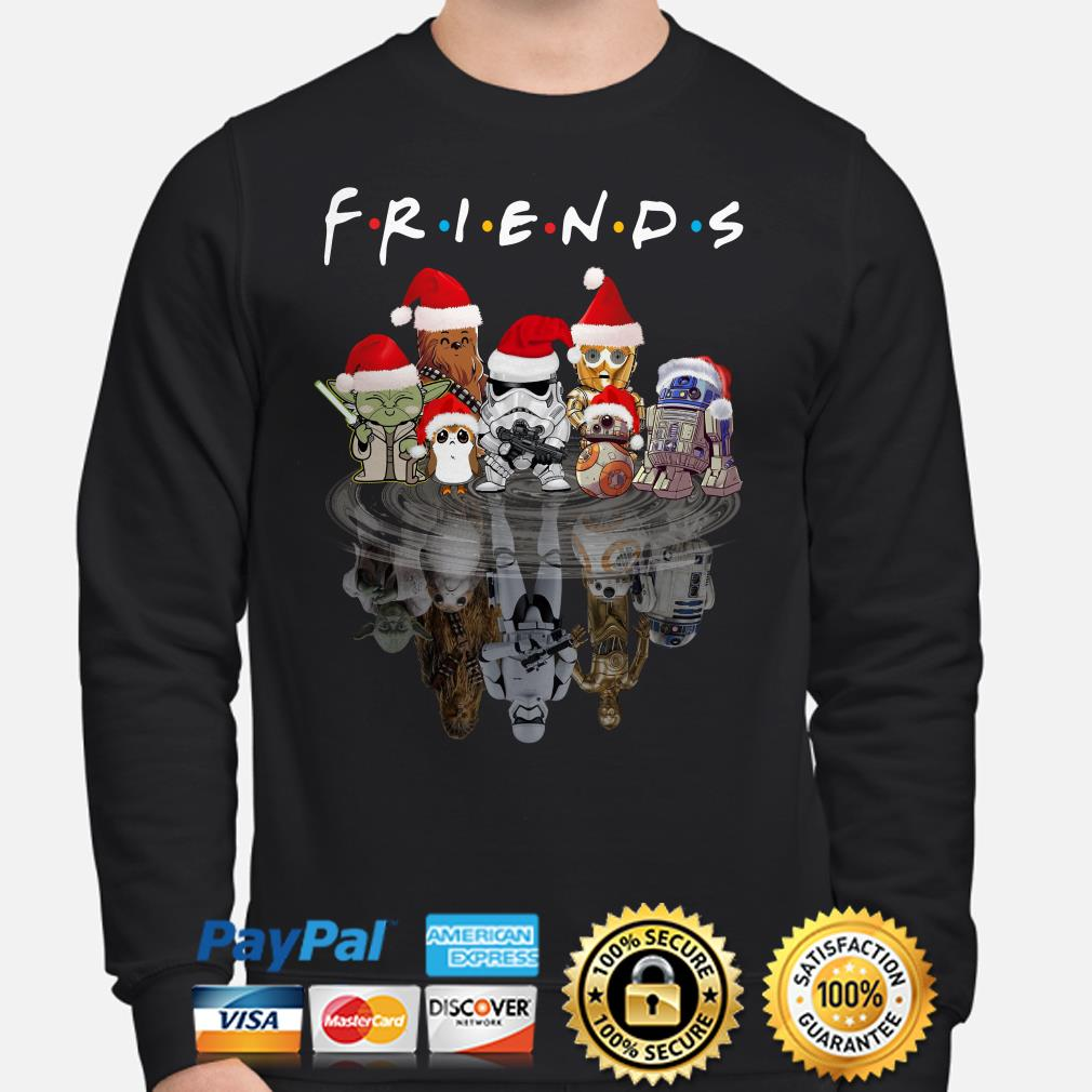 Star Wars Characters water mirror Friends Christmas sweatshirt