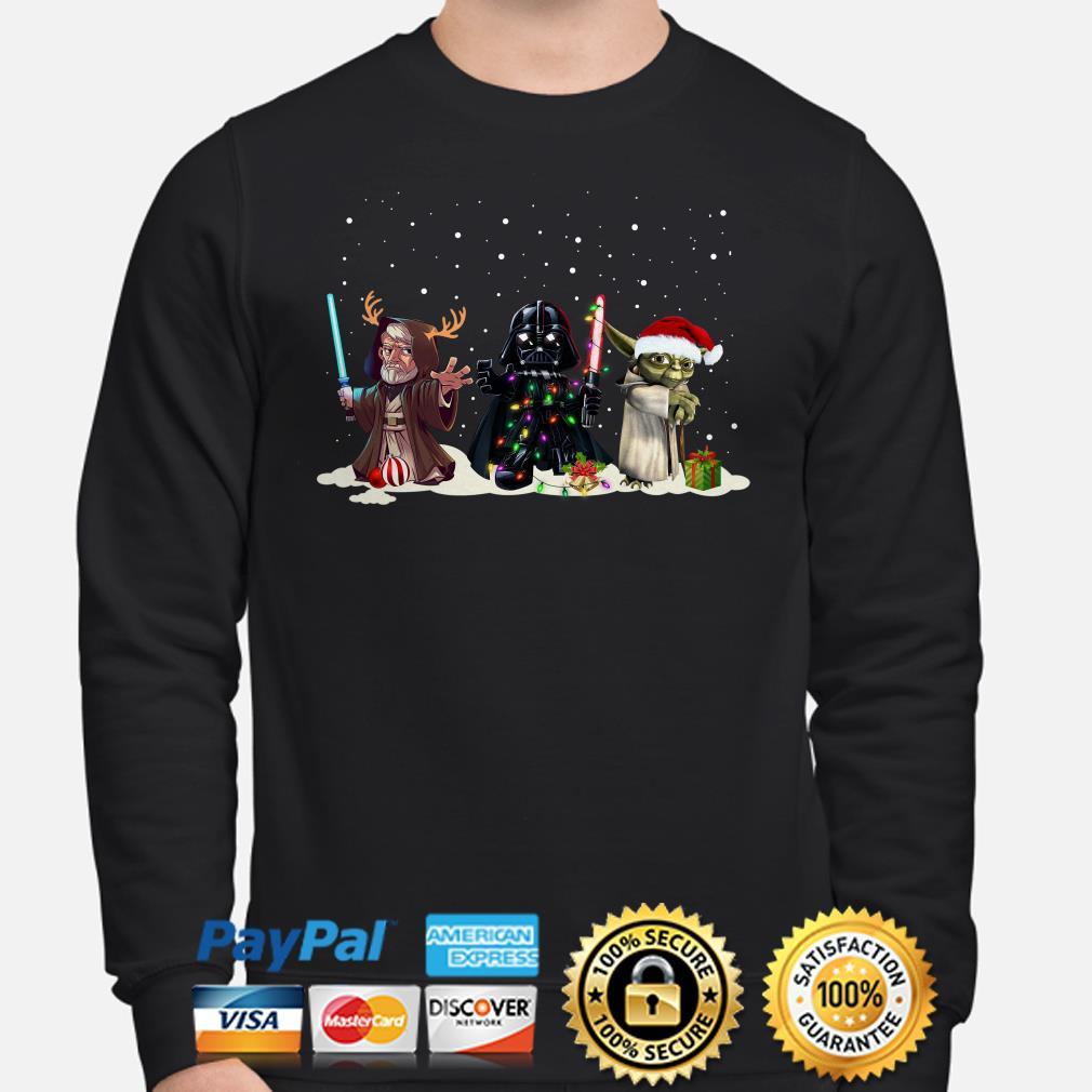 Star Wars Darth Vader Luke Skywalker and Yoda chibi Christmas sweater