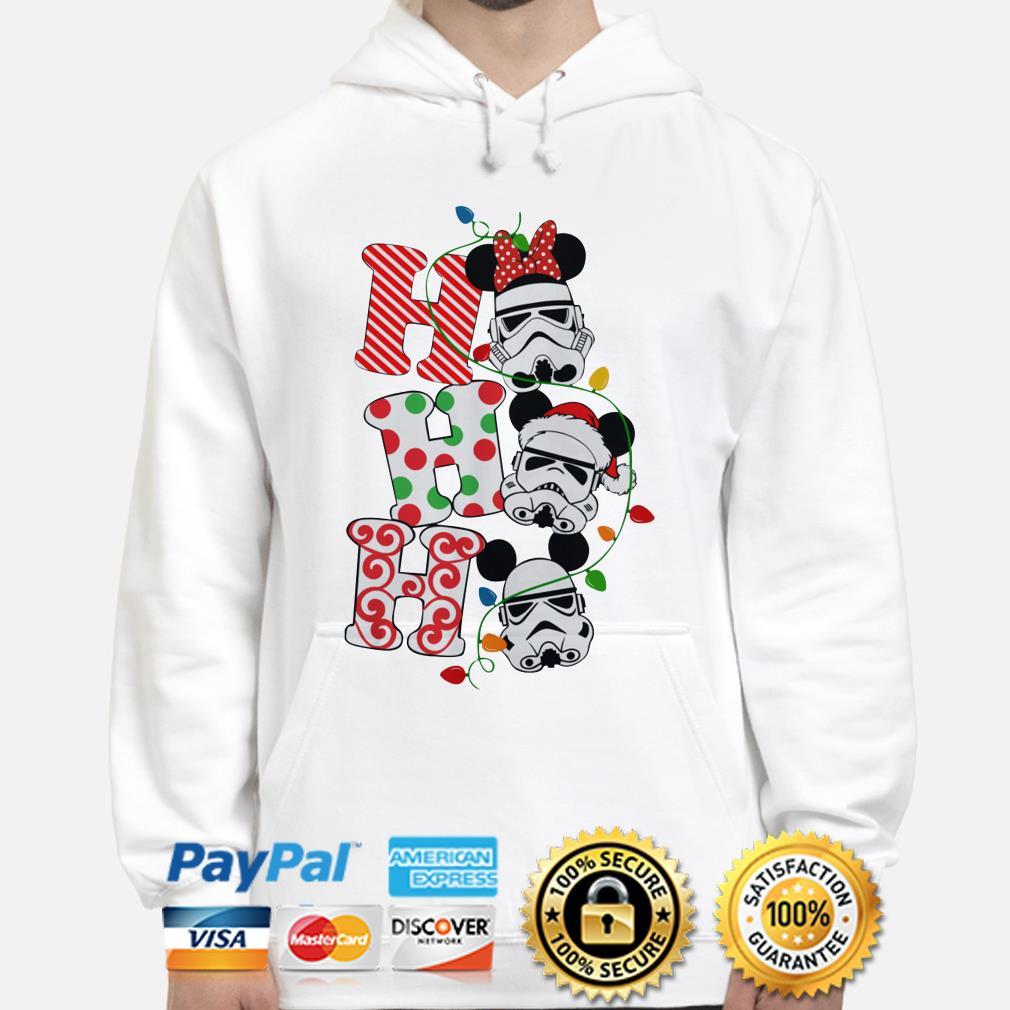 Star Wars Stormtrooper Mickey mouse santa ho ho ho Christmas hoodie