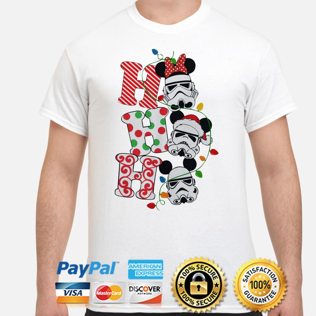 Star Wars Stormtrooper Mickey mouse santa ho ho ho Christmas shirt