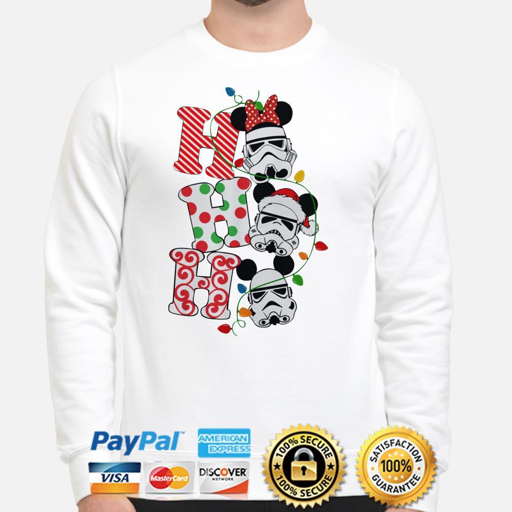 Star Wars Stormtrooper Mickey mouse santa ho ho ho Christmas sweater