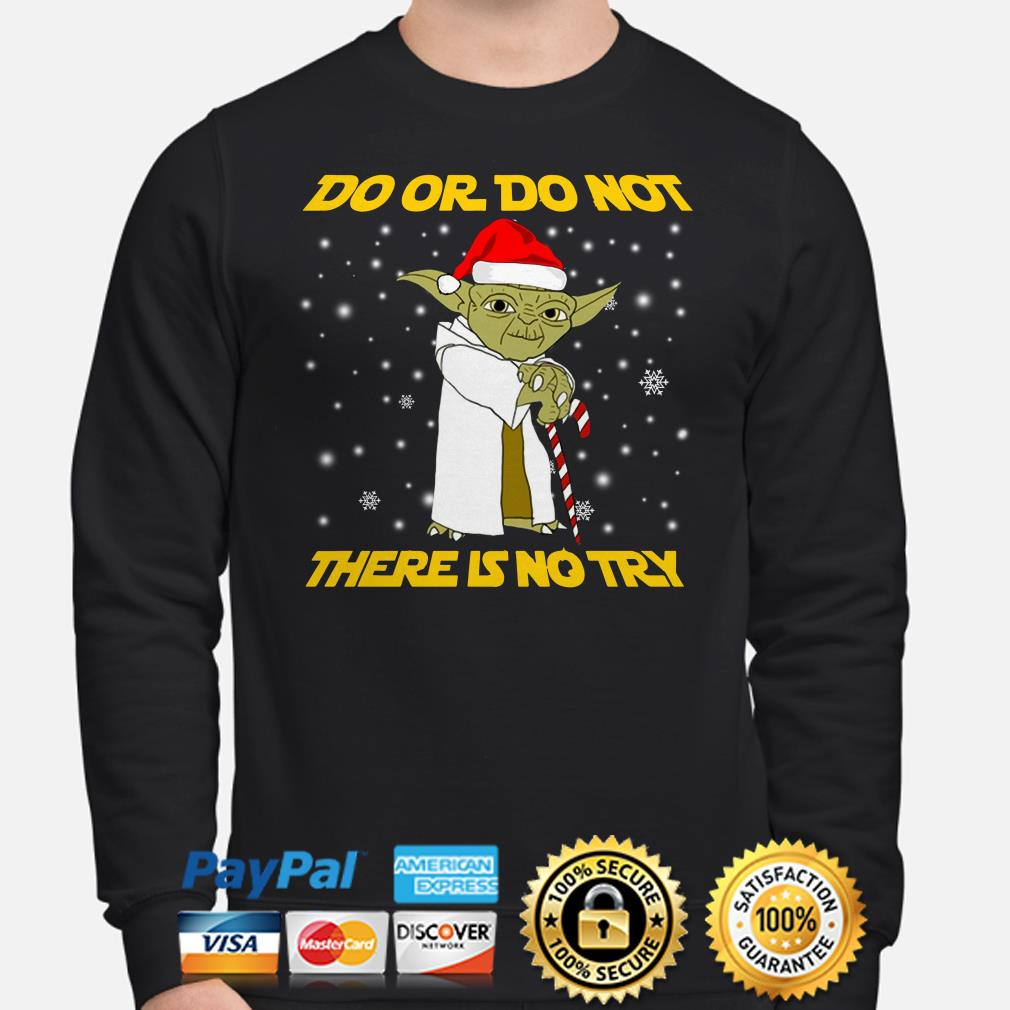 Star Wars Yoda Do or do not there is no try Christmas sweater