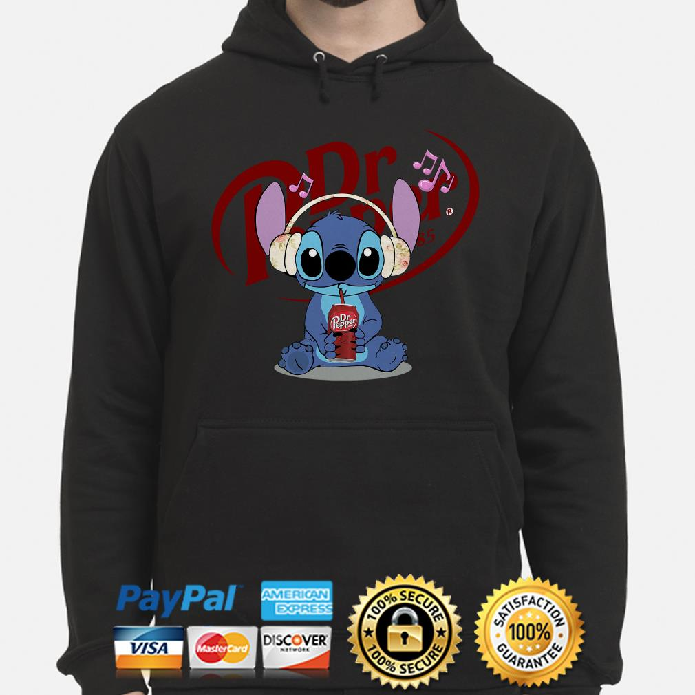 Stitch listening to music and drinking Dr pepper hoodie