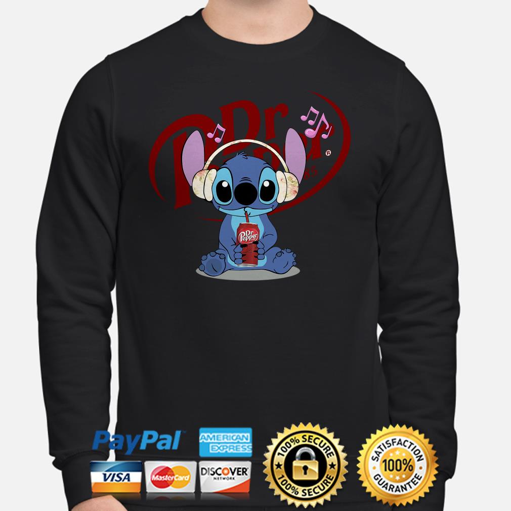 Stitch listening to music and drinking Dr pepper sweater