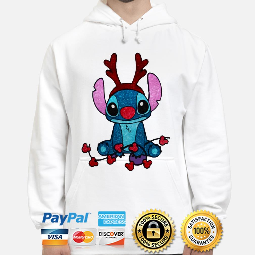 Stitch Mickey Mouse gorgeous reindeer Christmas hoodie