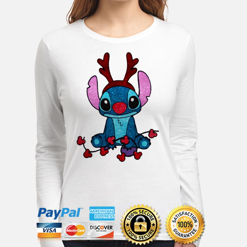 Stitch Mickey Mouse gorgeous reindeer Christmas long sleeve