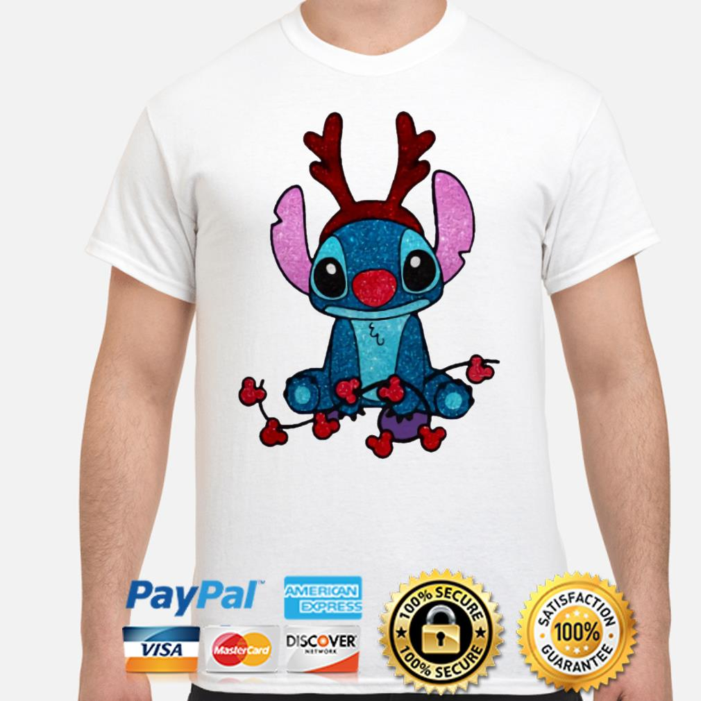 Stitch Mickey Mouse gorgeous reindeer Christmas t-shirt