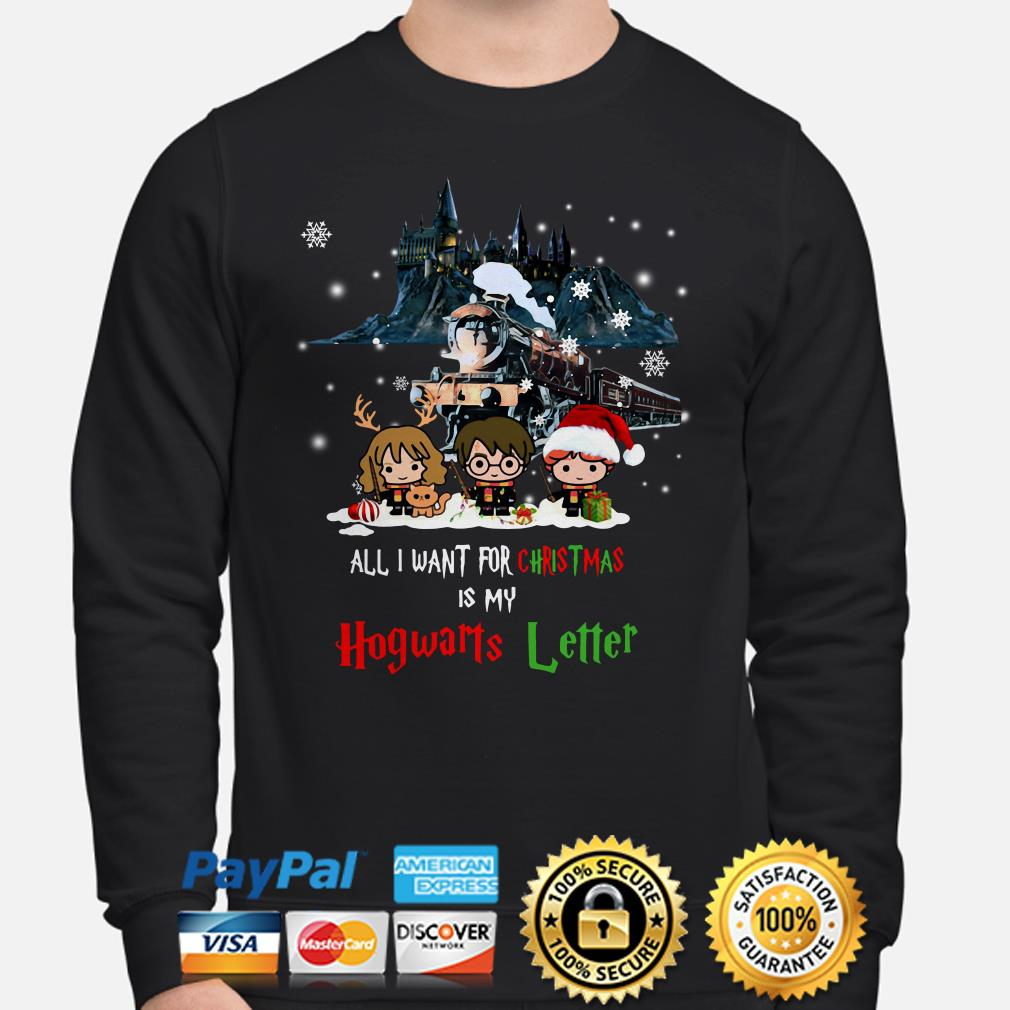 Harry Potter All I want for Christmas is my Hogwarts letter sweater