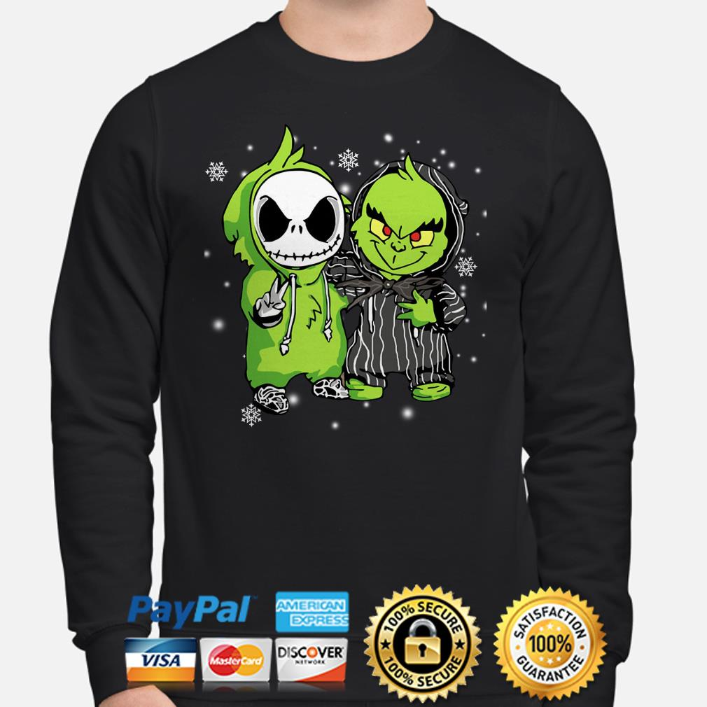 Baby Jack Skelling ton and Grinch Christmas sweater
