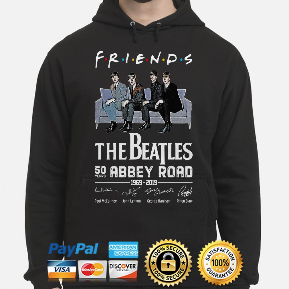 The Beatles 50th Abbey Road signature Friends TV show Hoodie