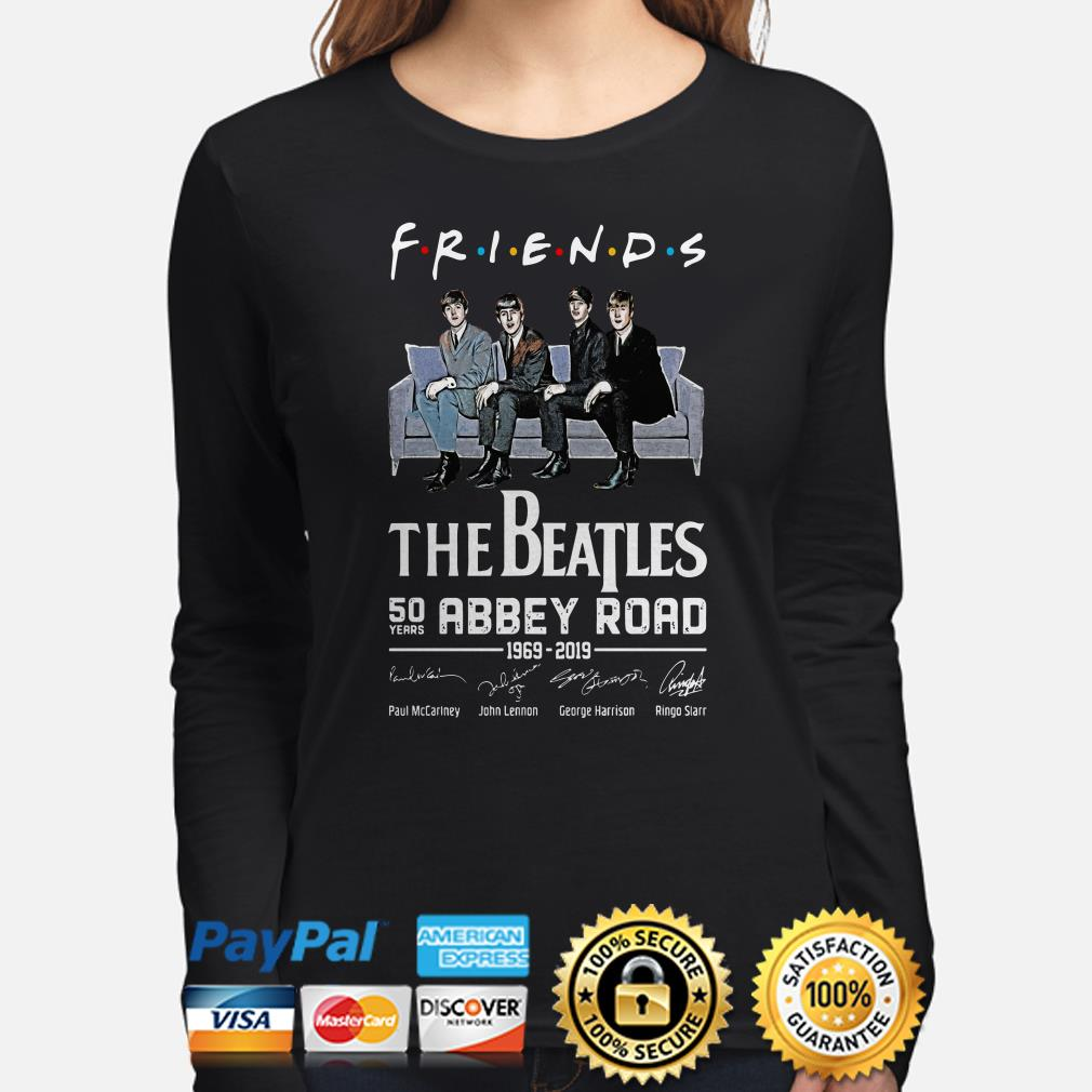The Beatles 50th Abbey Road signature Friends TV show Long sleeve