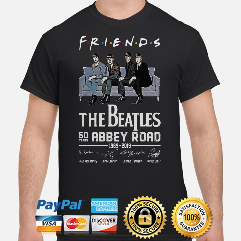 The Beatles 50th Abbey Road signature Friends TV show shirt