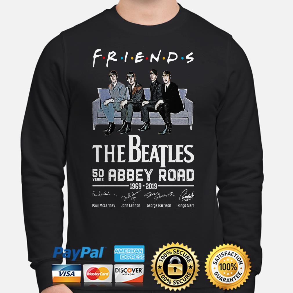 The Beatles 50th Abbey Road signature Friends TV show Sweater