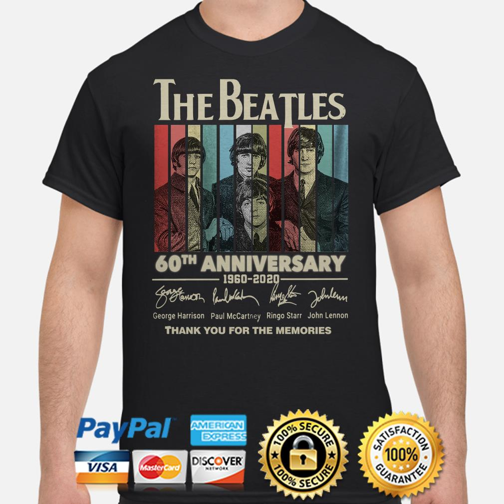 The Beatles 60th Anniversary thank you for the memories vintage shirt