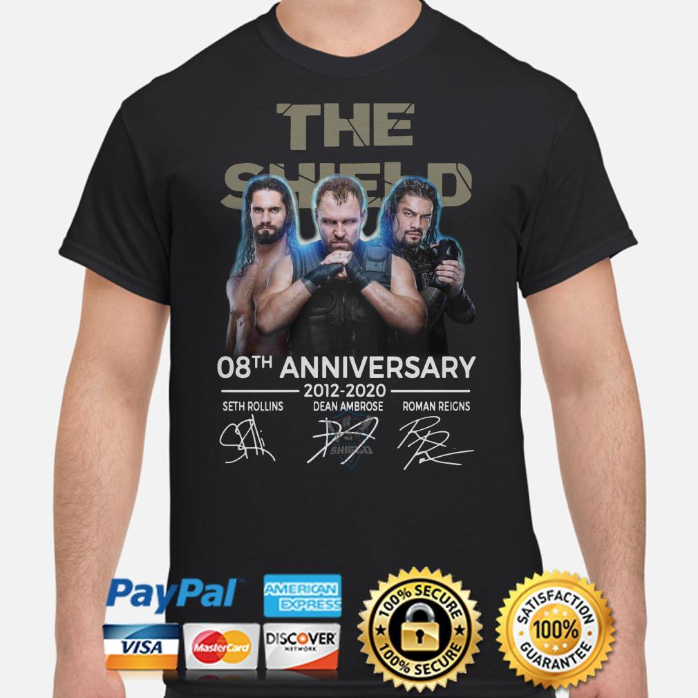 The Shield 08th Anniversary 2012 2020 signature shirt