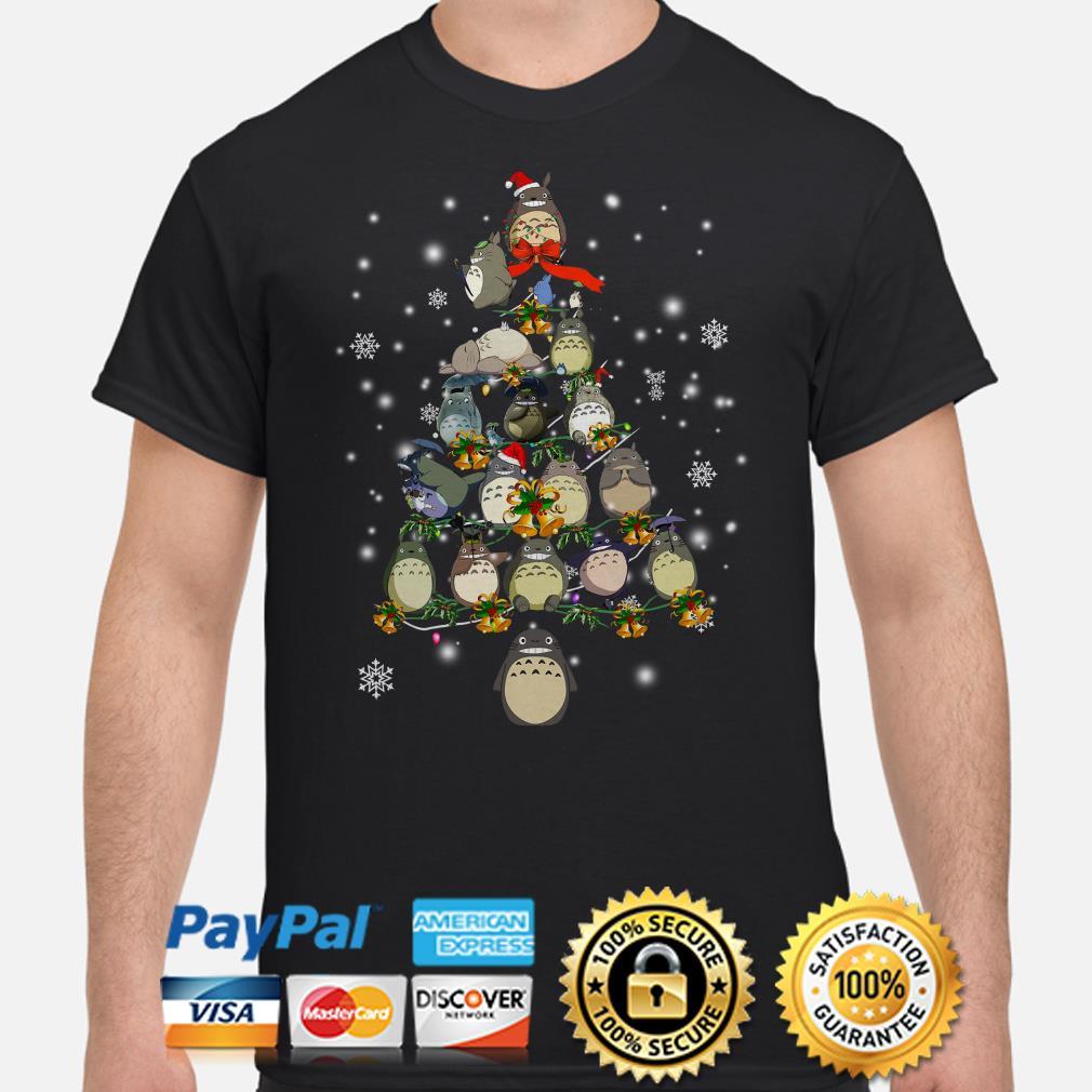 Totoro Christmas tree shirt