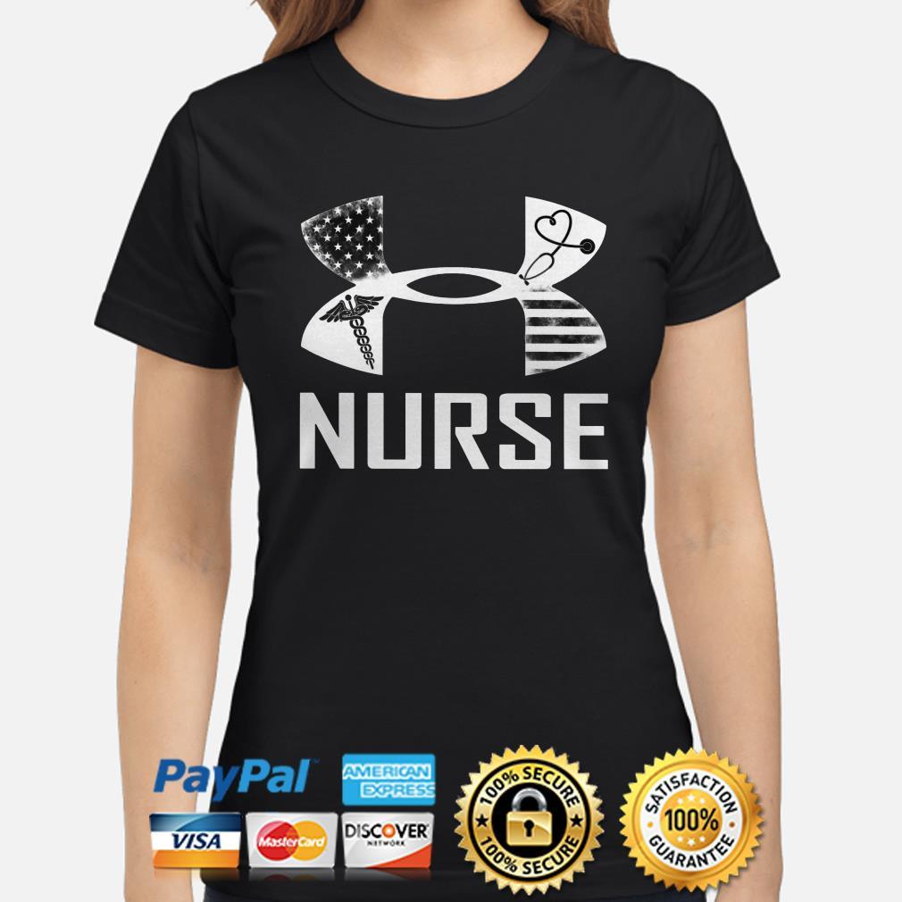 Under Armor Nurse American flag ladies shirt