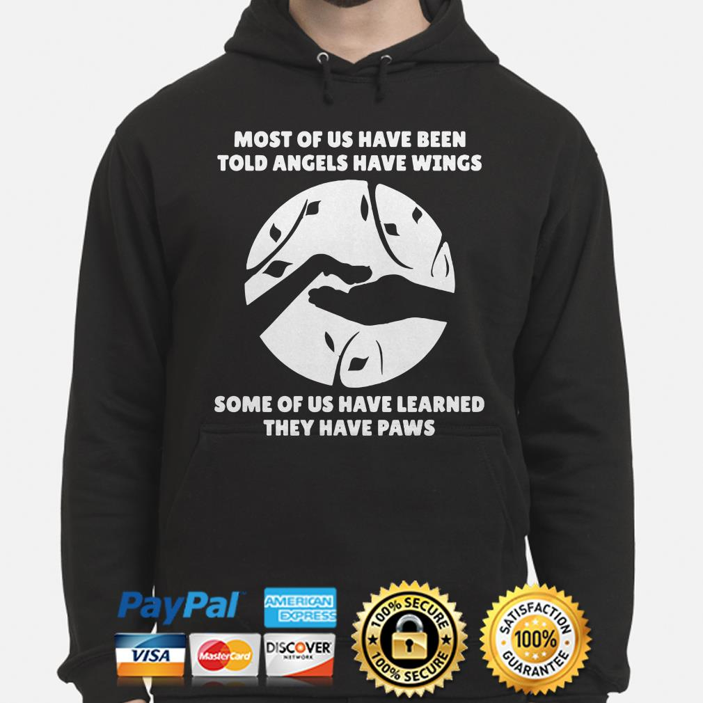 Most Of us have been told angels have wings some of us have learned they have paws hoodie