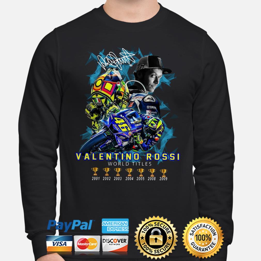 Valentino Rossi World Champions 2001-2009 signature Hoodie