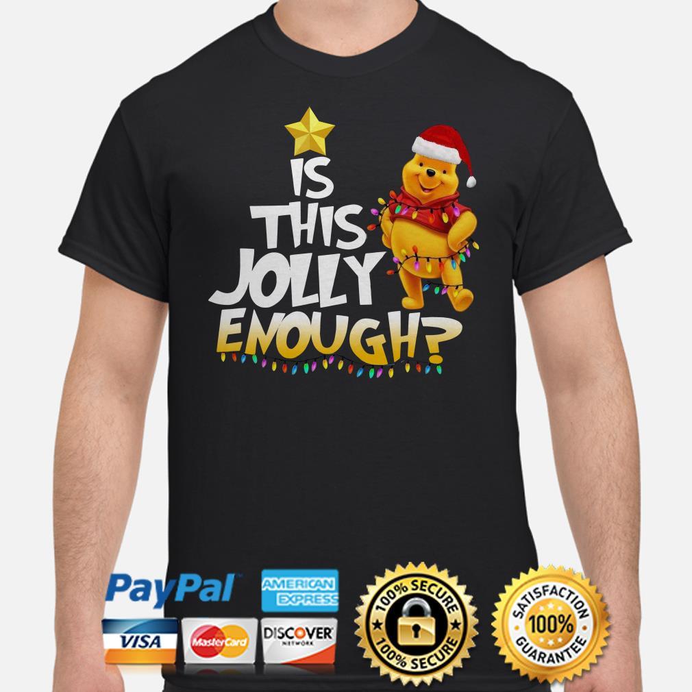 Winnie Pooh is this jolly enough Christmas lights shirt