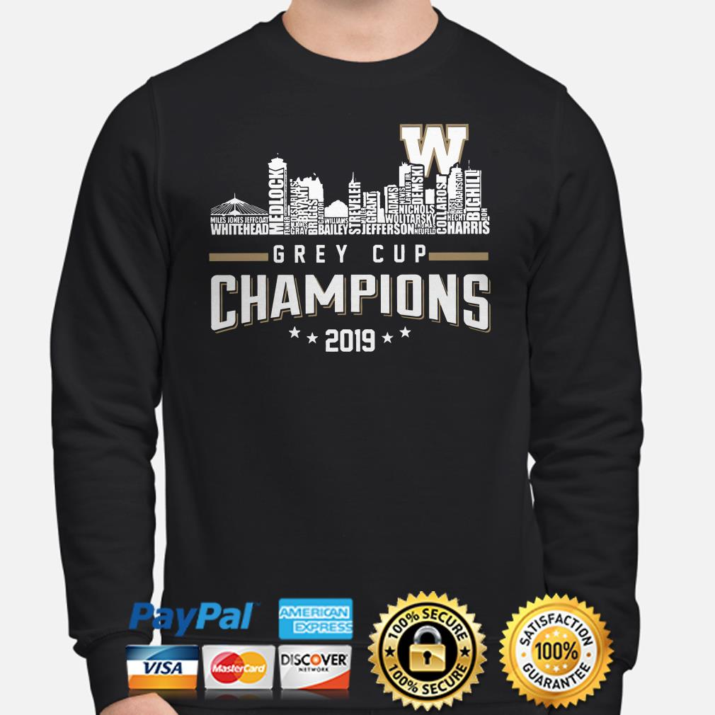 Winnipeg Blue Bombers Grey Cup Champions 2019 Sweater