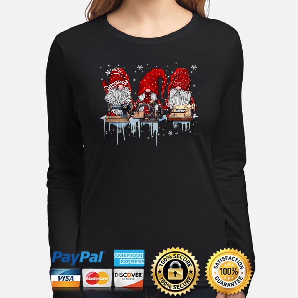 Winter Gnomes sewing Christmas long sleeve